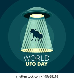 World UFO Day card design