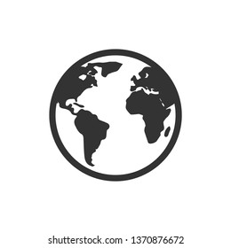 World vector icon on white background