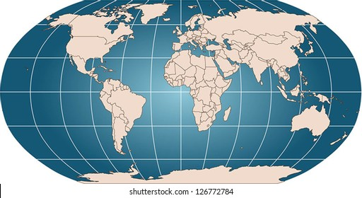 Latitude and longitude images stock photos vectors shutterstock world vector map with countries and graticule in robinson projection for 110m scale borders are gumiabroncs Image collections