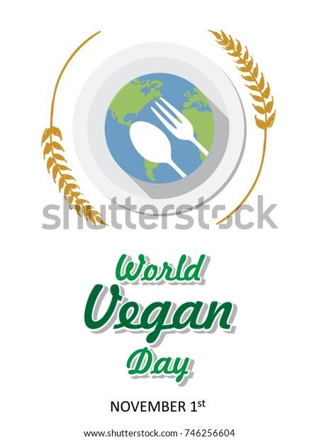 world vegan day background