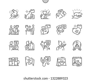 World Veterinary Day Well-crafted Pixel Perfect Vector Thin Line Icons 30 2x Grid for Web Graphics and Apps. Simple Minimal Pictogram