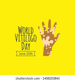 World vitiligo day vector template. Design for celebration, greeting cards or print.