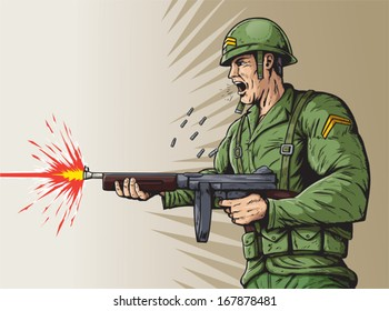 Angry Soldier Images, Stock Photos & Vectors | Shutterstock