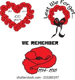 World War I Centennial Emblems