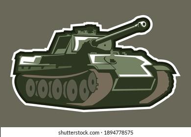 World War II german medium tank  vector illustration