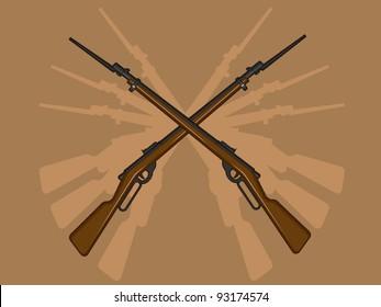 World War II Rifle with Bayonet