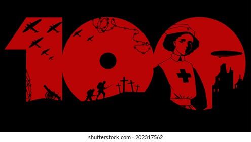 World War One centennial graphic design