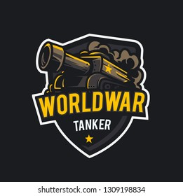 World War Tanker- Mascot & E-sport Logo - All elements on this template are editable with vector software