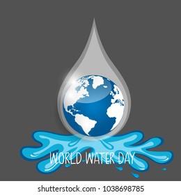 World water day background design. Vector illustration