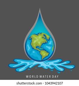 World water day background design. Vector illustration.