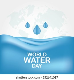 World Water Day Campaign Design Vector. Great for greeting card, poster and banner.