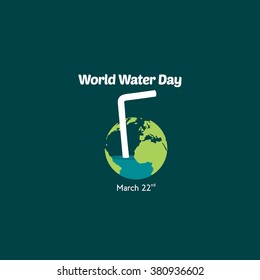 World Water Day Campaign. Suitable for Greeting Card and Poster.