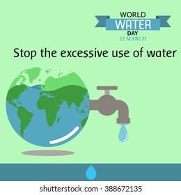 World water day illustration cartoon design 08