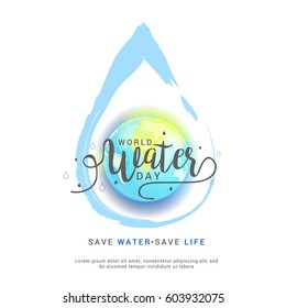 World Water Day Poster Or Banner Background.