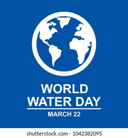 world water day poster. greeting. card. illustration. sticker
