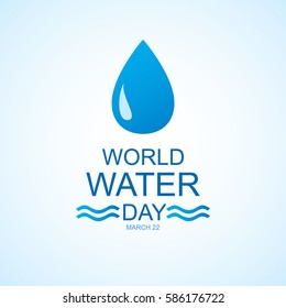 World water day. Vector illustration.