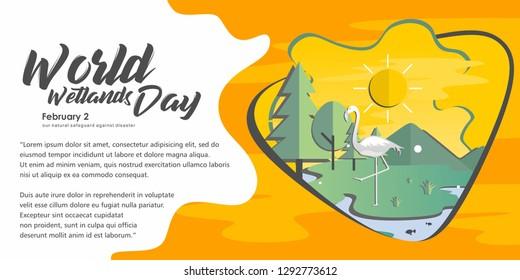 World Wetlands Day Banner Illustration