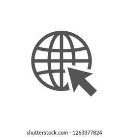 World wide web icon design template illustration isolated