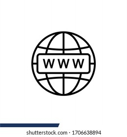 World Wide Web icon vector illustration