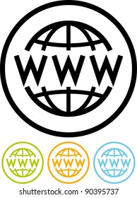 World Wide Web - Vector icon isolated on white