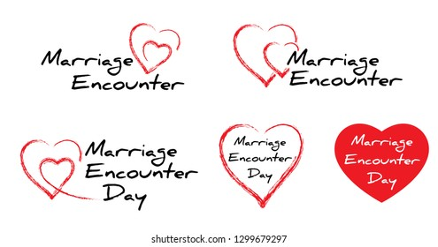 World, Worldwide Marriage Encounter Day February Vector signs sign icon icons Fun funny love relationship renew enrich refresh couples couples Christ Christian faith heart hearts fate Language barrier