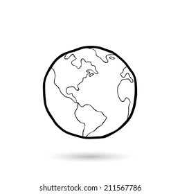 World,hand drawn - Vector