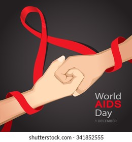 Worlds Aids day card 1 december
