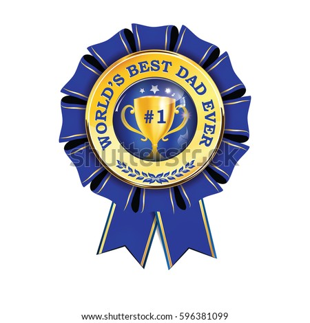 worlds best dad ever printable award stock vector royalty free