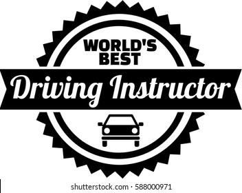 World's best Driving instructor button