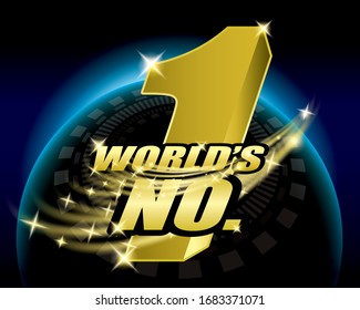 world;s number one, No.1 logo concept design vector.