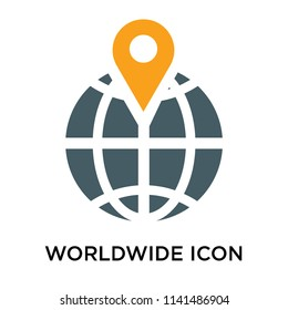 Worldwide icon vector isolated on white background for your web and mobile app design, Worldwide logo concept