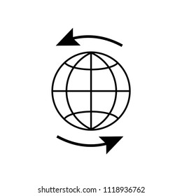 Worldwide icon vector icon. Simple element illustration. Worldwide symbol design. Can be used for web and mobile.