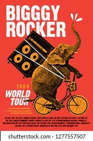 Worls Rock Tour Poster Flyer Template