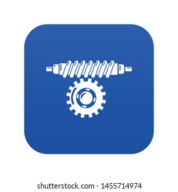 Worm gear icon. Simple illustration of worm gear vector icon for web.