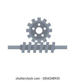 Worm gear. Mechanism, vector illustration