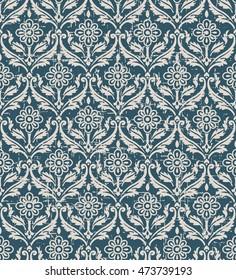 Worn out seamless background 521 vintage curve spiral cross leaf flower vine