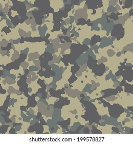 Worn out seamless woodland camo pattern vector. 200+ camo textures in my portfolio.
