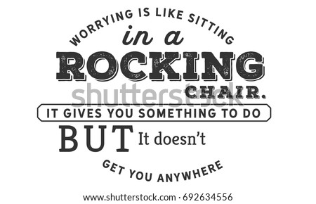 Worrying Like Sitting Rocking Chair Gives Stock Vector Royalty Free
