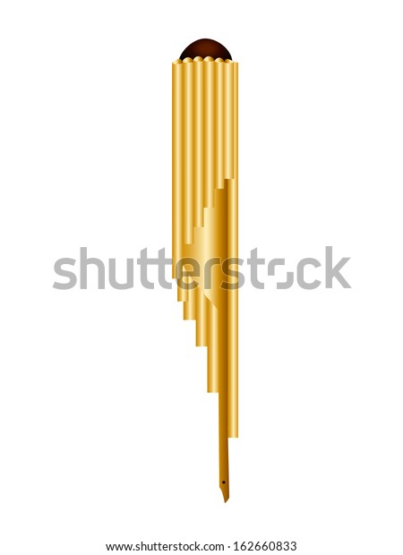 Wot Thai Circular Panpipe Used Music Stock Vector (Royalty