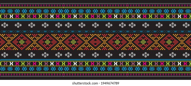 woven cloth typical of the Toba Batak tribe, Batak Mandailing is called Ulos Batak. with colorful combinations, such as black, blue, red, black.