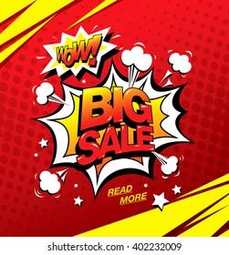 Wow! Big sale banner template design