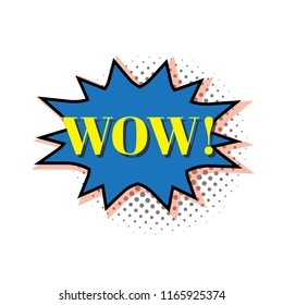 WOW! Comic Text. Vector