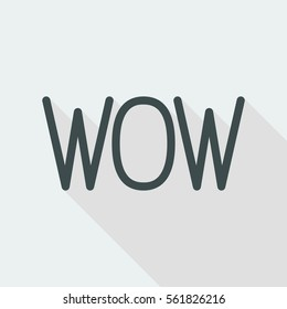 """""""Wow"""" exclamation - Vector icon for computer website or application"""