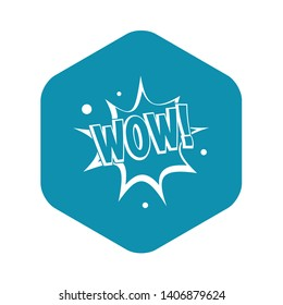 WOW, explosion effect icon. Simple illustration of WOW, explosion effect vector icon for web