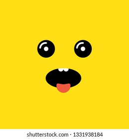 wow face vector illustration