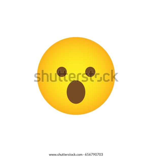 Wow Icon Social Media Emoticon Surprise Stock Vector