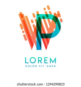 WP logo with the theme of galaxy speed and style that is suitable for creative and business industries. PW Letter Logo design for all webpage media and mobile, simple, modern and colorful
