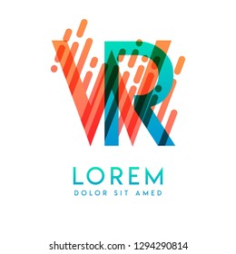 WR logo with the theme of galaxy speed and style that is suitable for creative and business industries. RW Letter Logo design for all webpage media and mobile, simple, modern and colorful