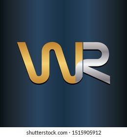 WR RW Double letter Initial Logo