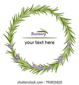 Wreath of flowering rosemary.